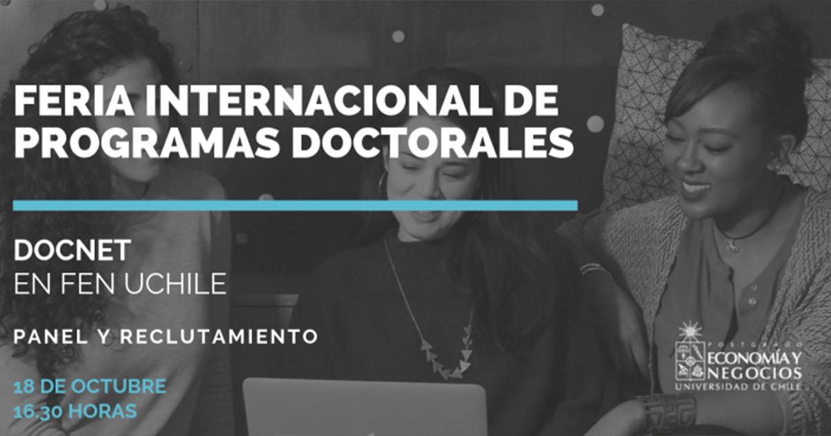 Feria Internacional de programas Doctorales (DOCNET) se realizará el 18 de octubre