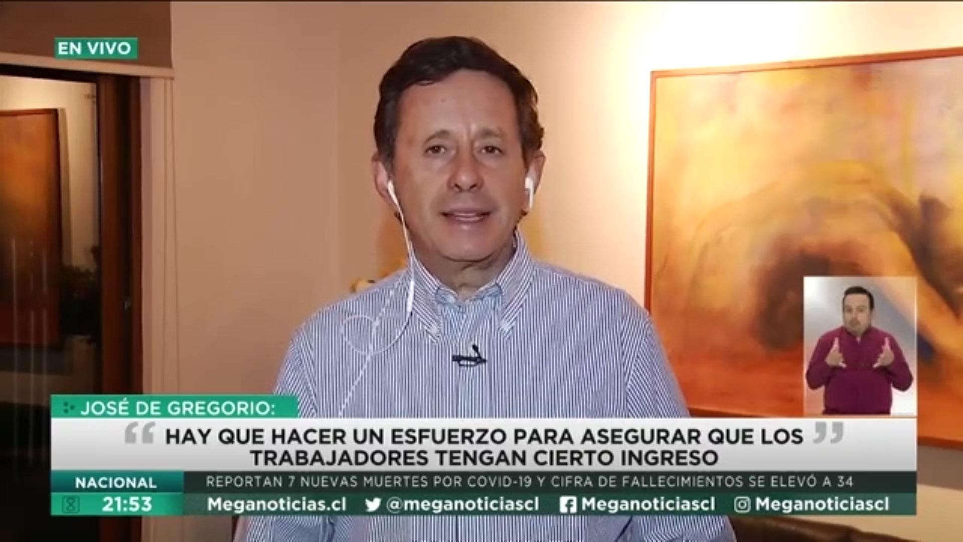 Decano José De Gregorio en Meganoticias