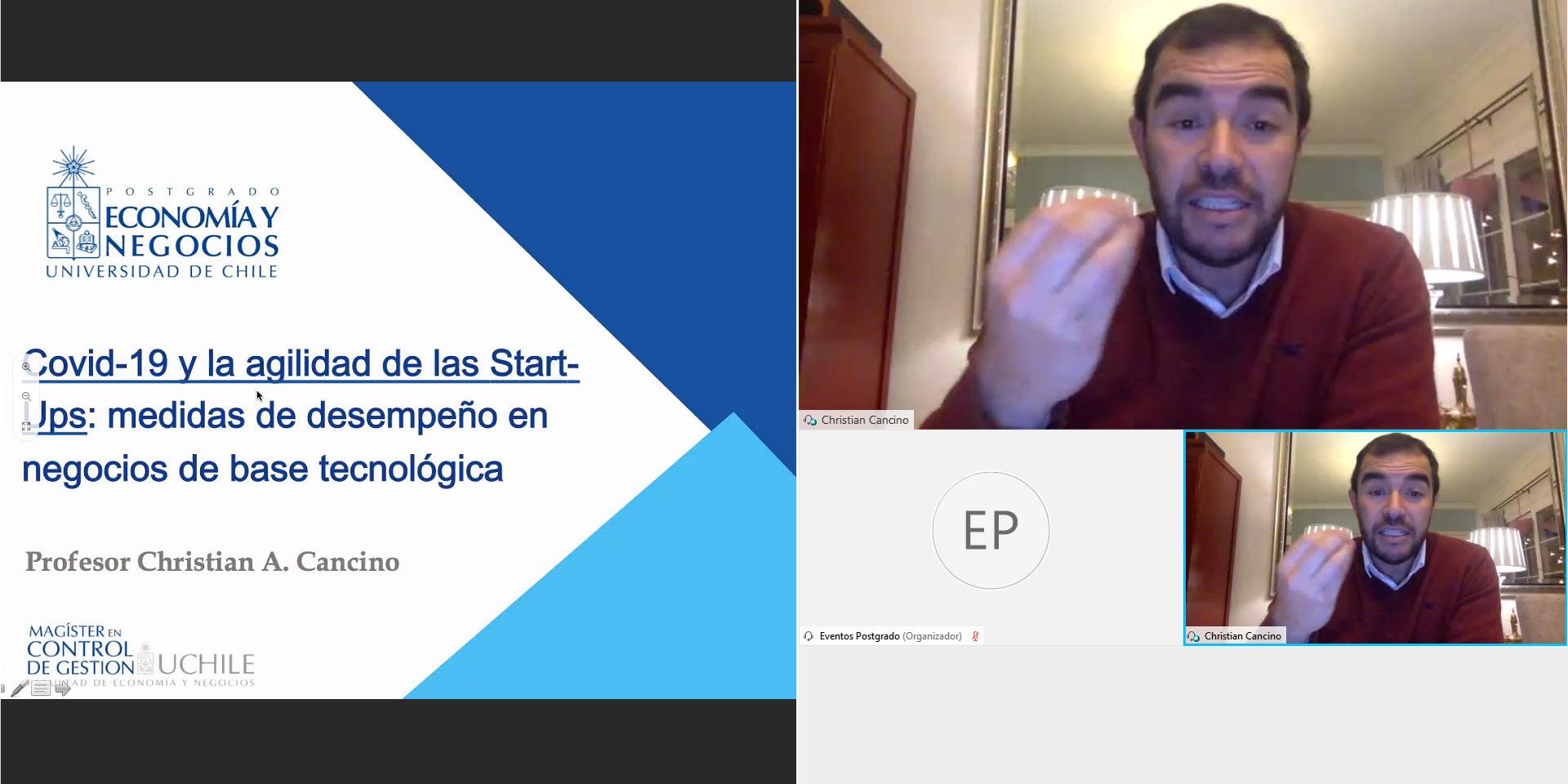Profesor Cancino y las start ups