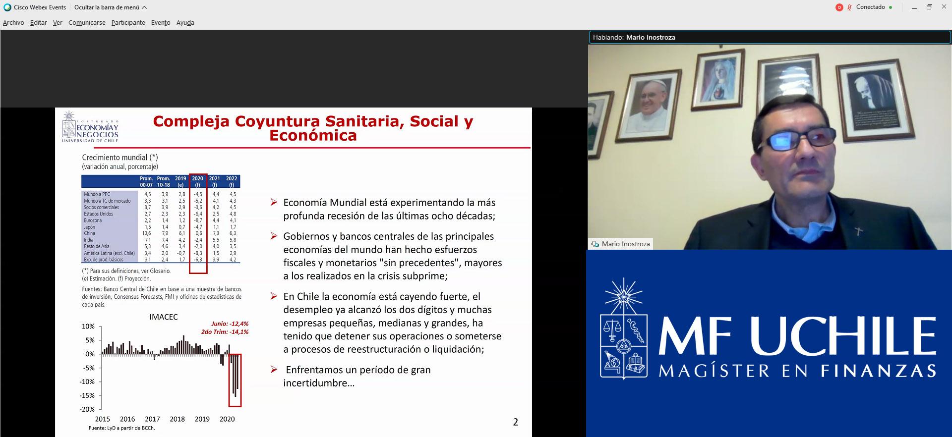 Mario Inostroza Profesor Magíster en Finanzas