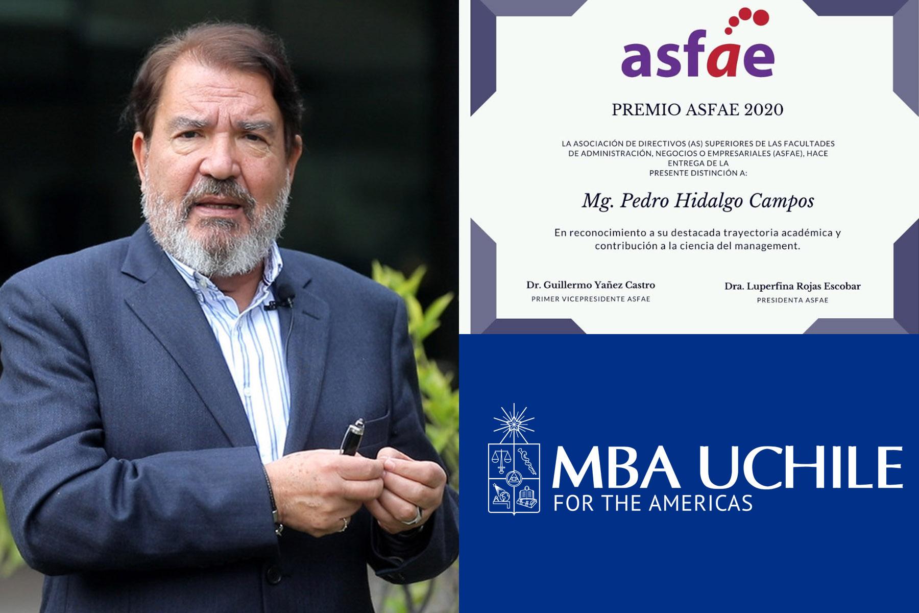 Distinción profesor Pedro Hidalgo Asfae